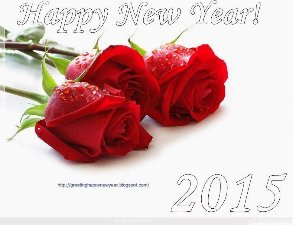 Happy New Year 2015 Best Wishing Cards For Roses