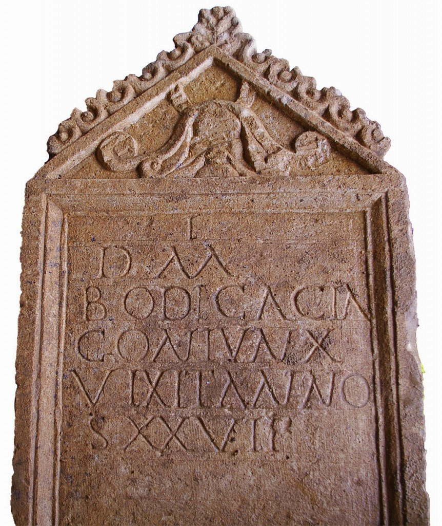 Rare Inscribed Roman Tombstone with Skeleton Found