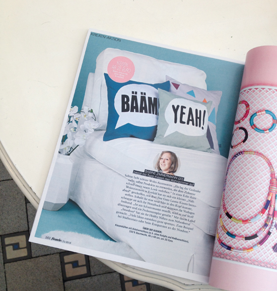 binedoro Blog, Presse, Artikel, freundin Magazin 21/2015