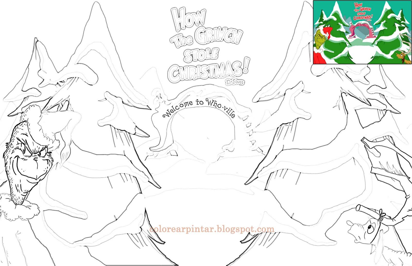 Perfecto Grinch Navidad Para Colorear Bosquejo - Dibujos Para ...