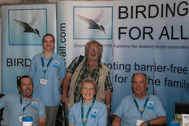 Birding For All team with Bill Oddie
