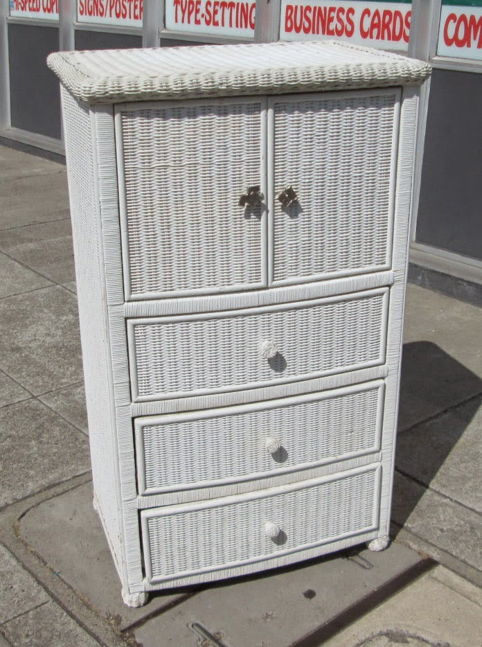 uhuru furniture collectibles sold wicker chest of drawers with doors 75. Black Bedroom Furniture Sets. Home Design Ideas