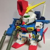 SD ZZ Gundam Papercraft Model