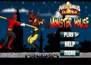 juegos de pelea power ranger monster house