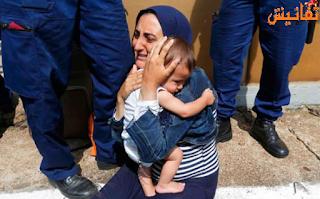 عائلة سورية تلقي بنفسها امام القطار في بودابيست