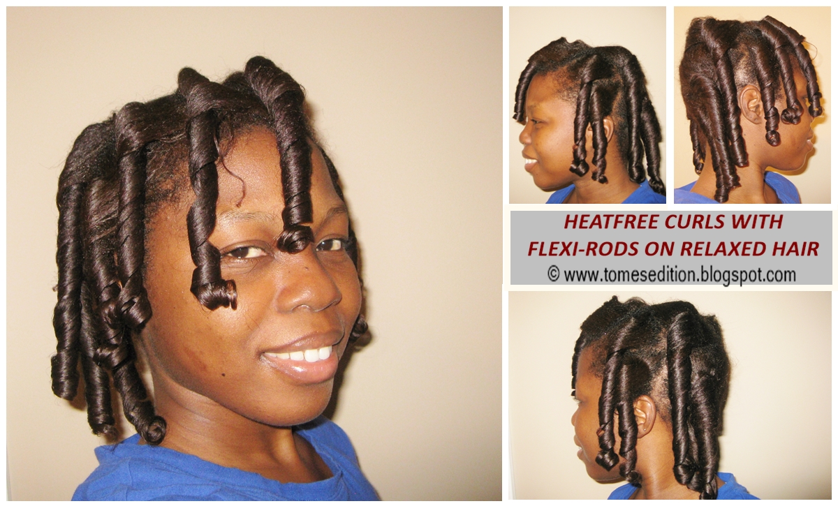 how to use flexi rods on dry straight hair