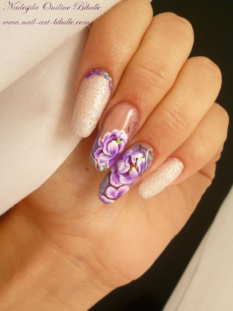 Zhostovo Nail Art - Roses ou Dahlias ?