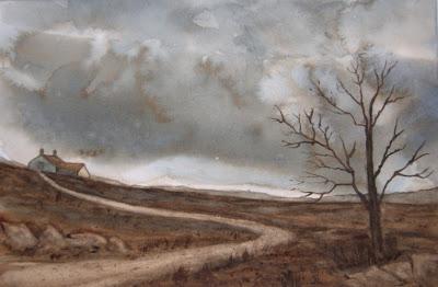 Jean Lurssen watercolors: Storm Clouds