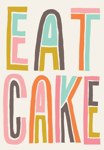 Eat Cake Birthday Card from noi