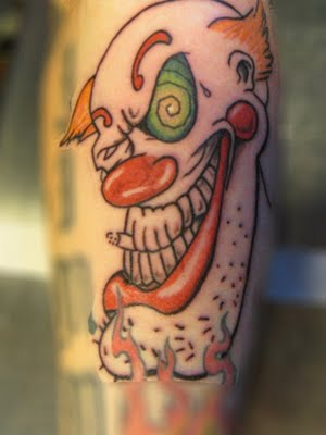 Clown Tattoos Design Pictures 2012