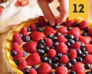 crostata crema e frutti di bosco • custard cream and berries pie