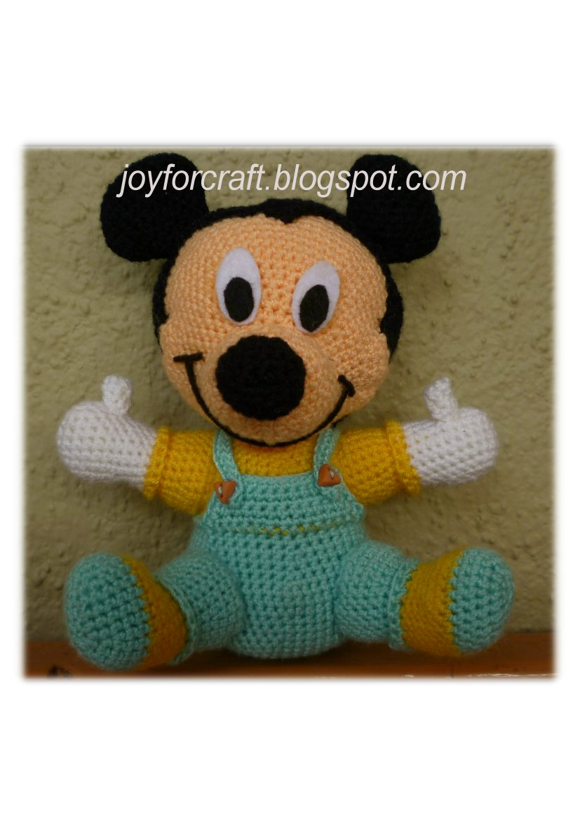 Baby Mickey Amigurumi Pattern : Joy For Craft: Baby Mickey Mouse