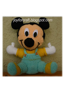 Crochet amigurumi Baby Mickey Mouse Cute Pattern