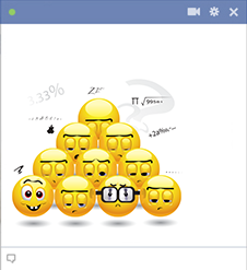 Math class smileys for Facebook