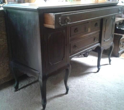 Kitchen Island Made From Antique Buffet: Furniture Flippin': From Server To Center Stage