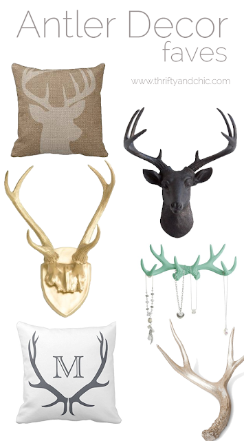 Great site to find ideas for antler decor