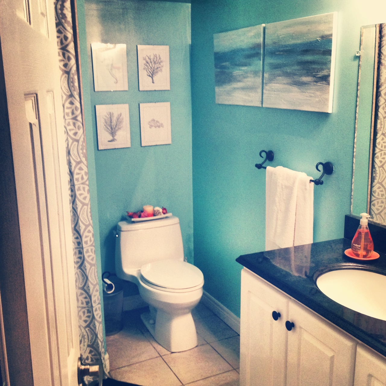 Ocean themed bathroom ideas pin by alli owings on future for Sea bathroom ideas