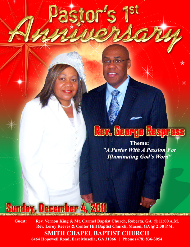 Pastor's First Anniversary Program Cover | Miranda Design Studio