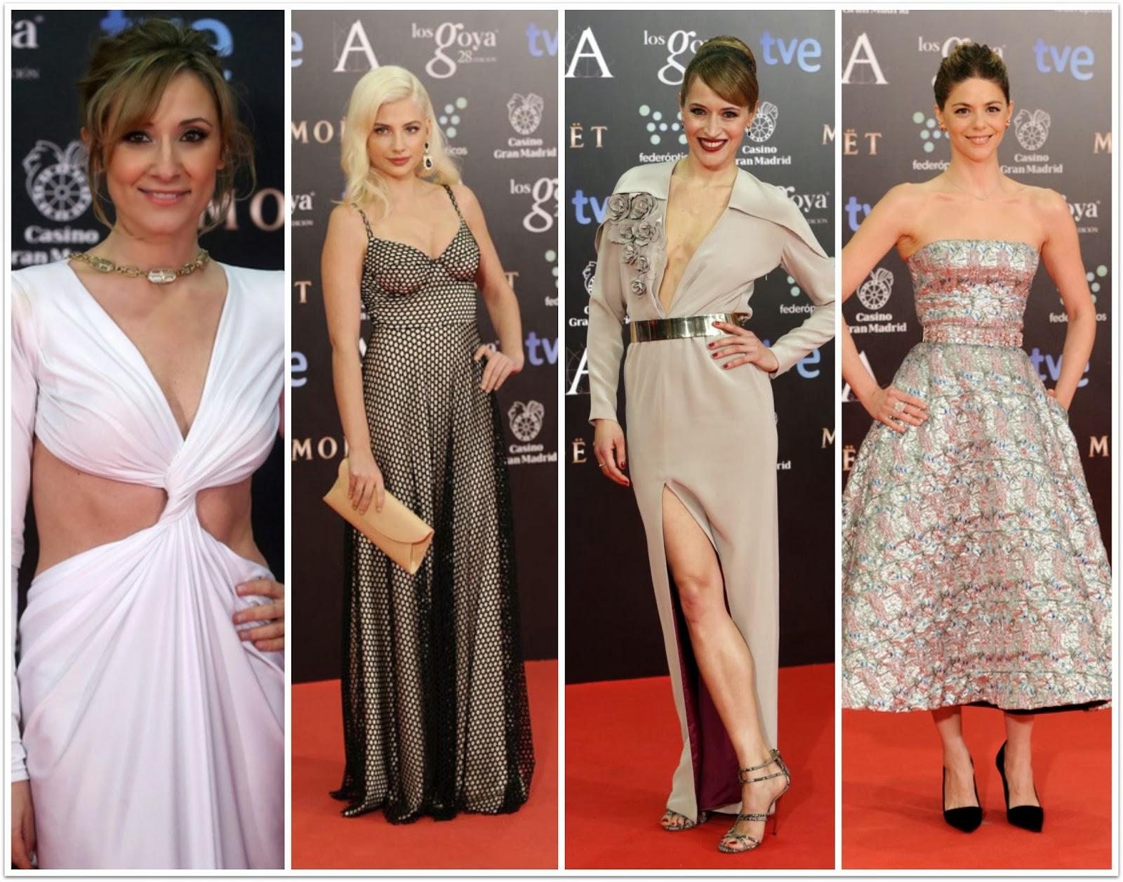 Las peor vestidas de los Goya 28 - 2014 - Nathalie Poza, Miriam Giovanella, María Larralde, Manuela Velasco
