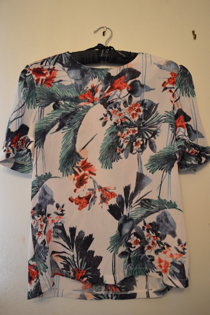 Miss Finch Forest Print Blouse