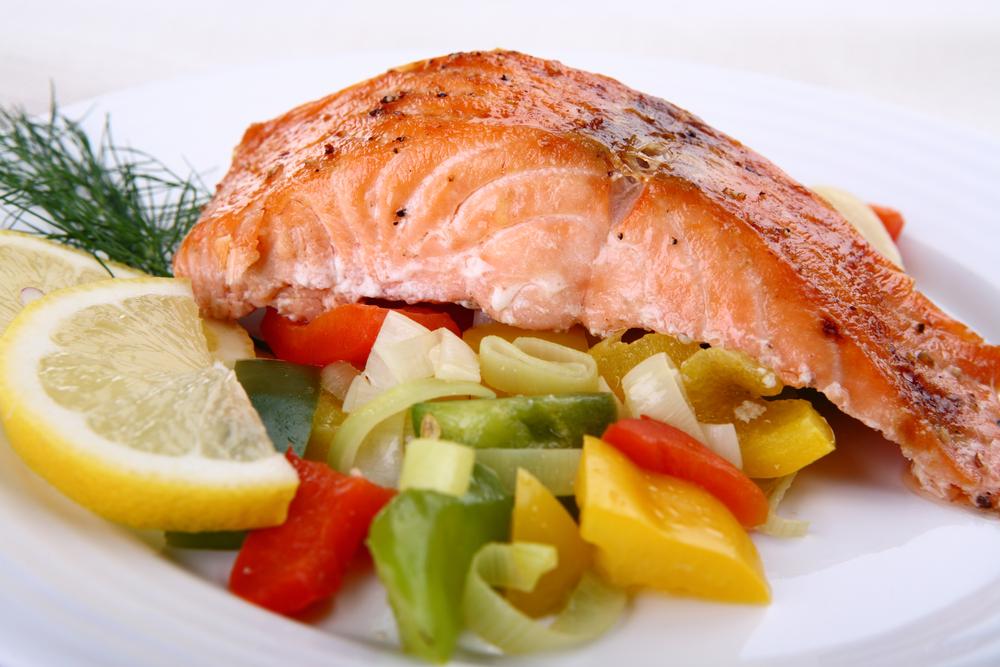 salmon dinner