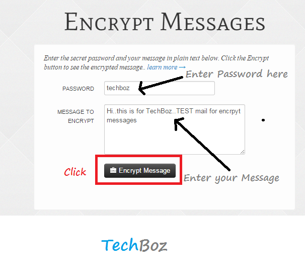 how to open encrypted message