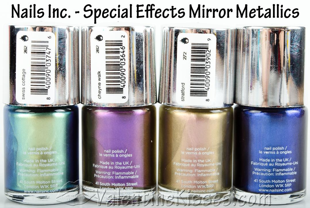 Valentine Kisses: Nails Inc. Special Effects Mirror Metallics - 4 ...
