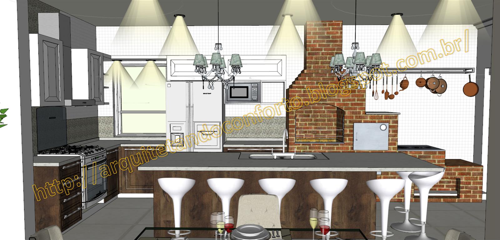 Cozinha Moderna Com Fogo A Lenha Cozinha Com Parede Azul E Fogo De