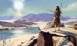 João Batista pregando no deserto