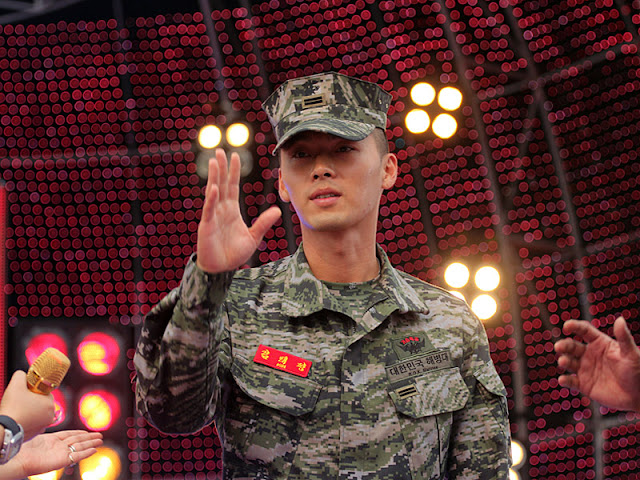Hyun Bin in Military Uniform