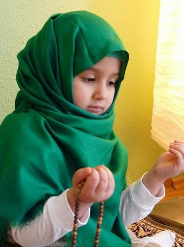 Beautiful Muslim Girl Praying