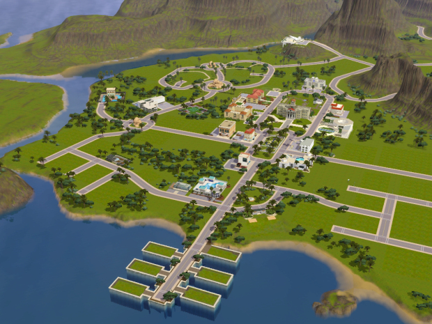 My Sims Blog A Greener Lucky Palms Empty World And With - Blank world map sims 3