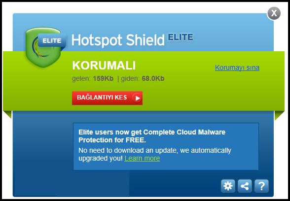 Hotspot Shield Elite VPN v5.20.7 Türkçe Full indir