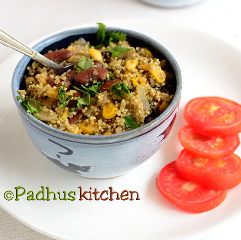 Quinoa with beans and corn