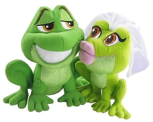 Plys-frøer, der kysser
