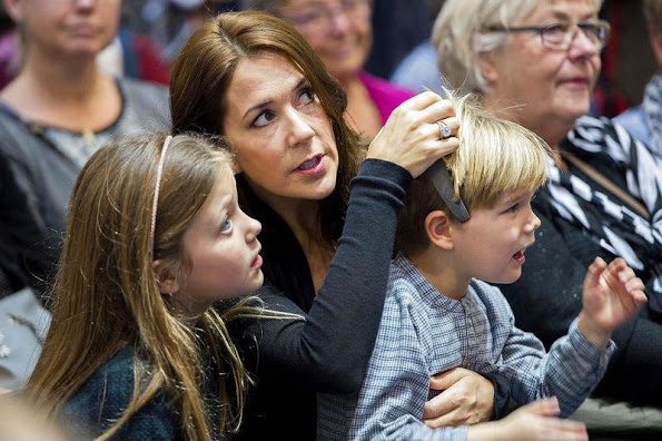Crown Princess Mary Visits A Book Fair In Copenhagen