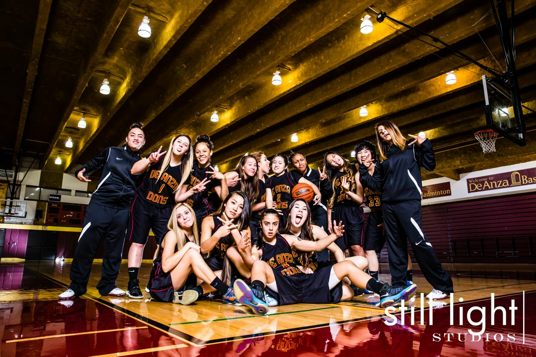 De Anza Community College Women's Basketball Team Photo by Still Light Studios, School Sports Photography and Senior Portrait in Bay Area, cinematic, nature