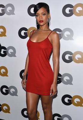 Rihanna Red Dress GQ Men of the Year 2012