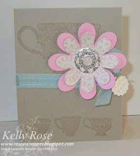 Tea Shoppe card with designer builder brad