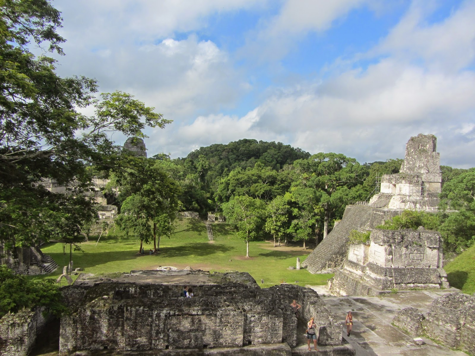 Main plaza at Tikal in Guatemala