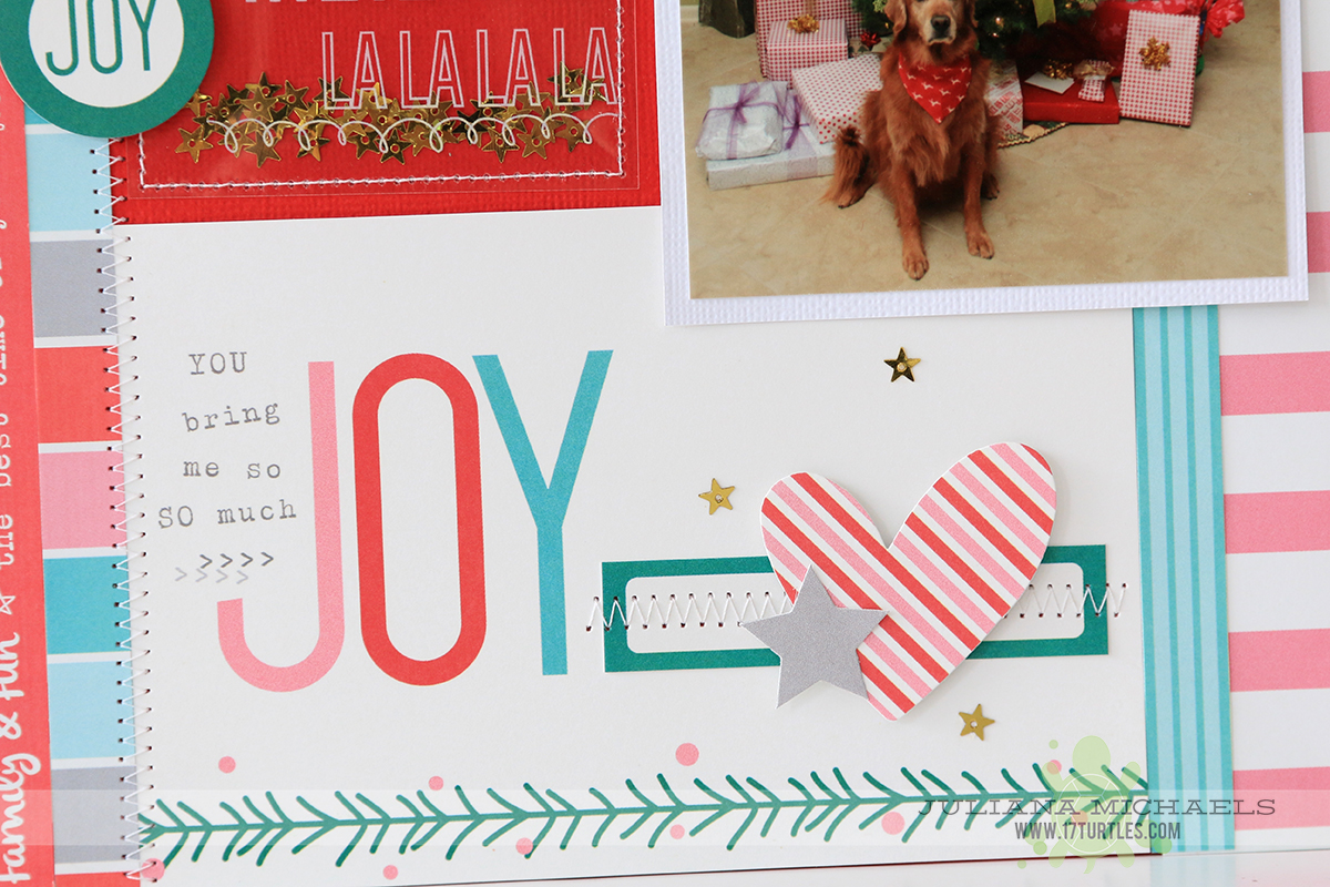 Scrapbook paper dogs - Christmas Scrapbook Page Ideas For Dogs By Juliana Michaels Featuring Elle S Studio Good Cheer