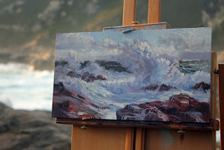 Plein air seascape sketch by Andy Dolphin.
