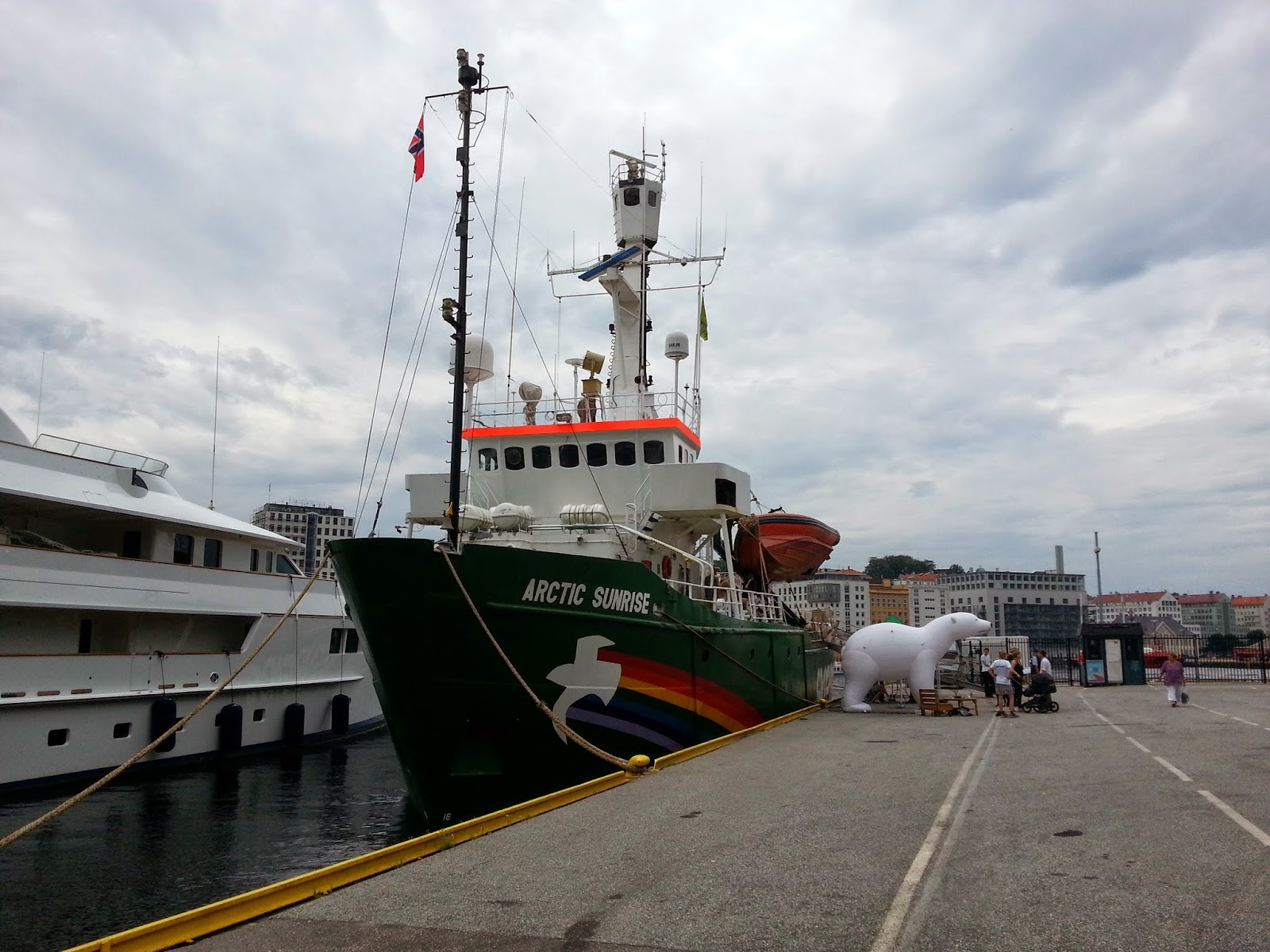 Greenpeace MV Arctic Sunrise in Bergen, Norway