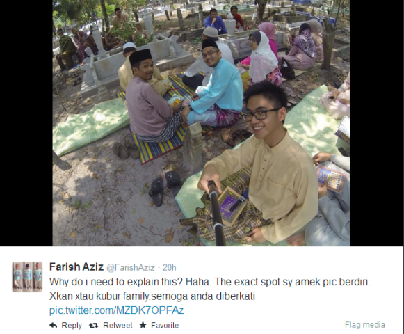 Farish Aziz Jawab Kecaman Tentang Isu Berselfie Di Kubur!
