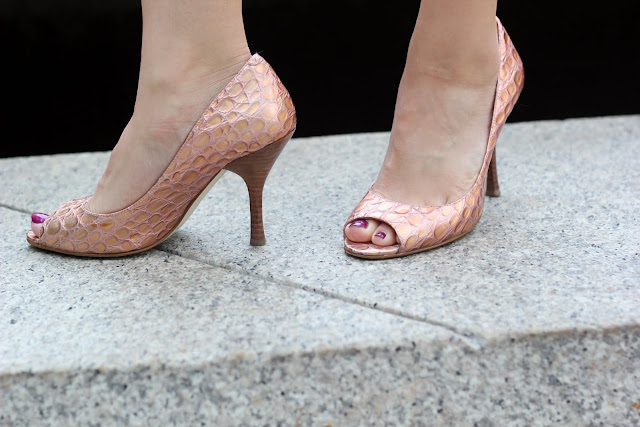 Pink Peeptoe Pumps