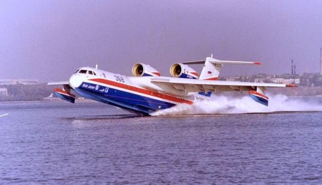 Jet Amphibi  Beriev BE-200 Bantu Evakuasi Pesawat Airasia QZ8501