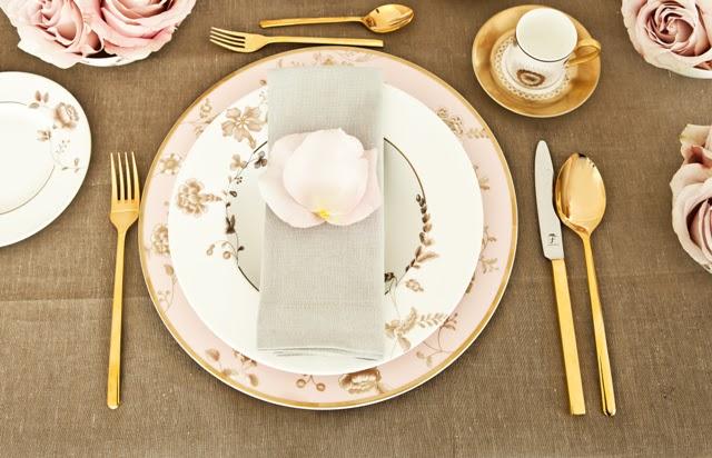 Zimowe dekoracje stołu