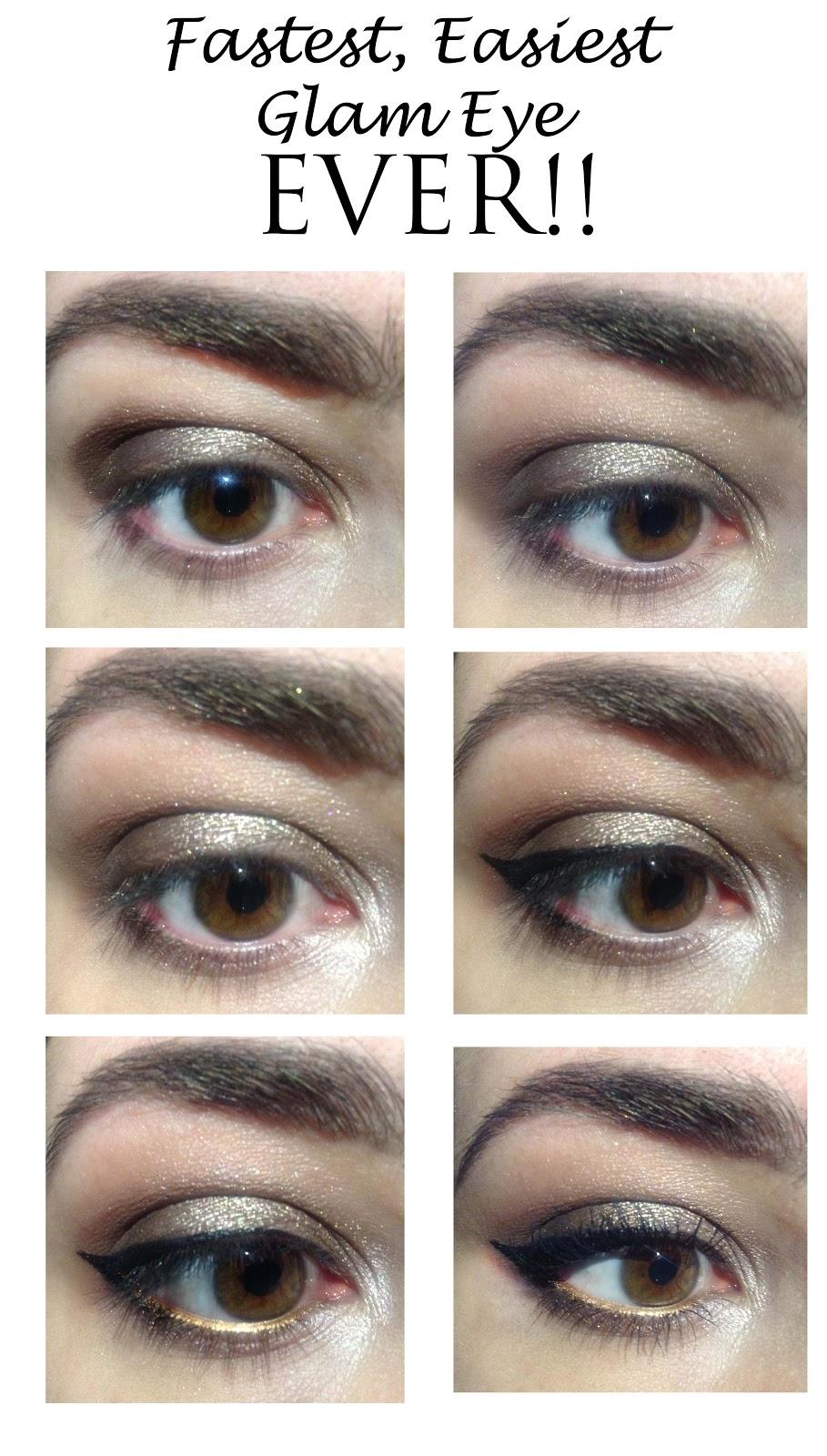 Fastest Easiest Glam Eye Look Ever Makeup Beauty Tips Tricks