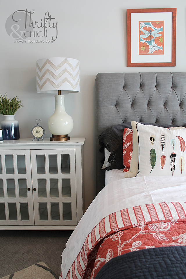 Guest Bedroom decorating idea and model home tour