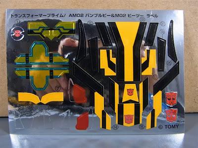 Stikers Bumblebee Transformers Prime Takara